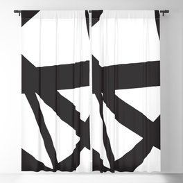 Black and white abstract art. Blackout Curtain