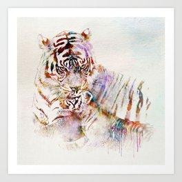 Tigress with Cub Art Print