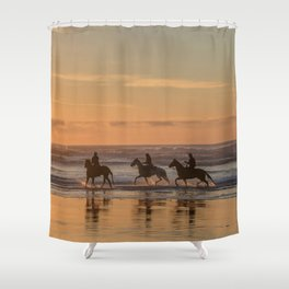 Sunset Horse Ride Shower Curtain