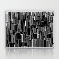 Tall city B&W inverted / Lineart city pattern Laptop & iPad Skin