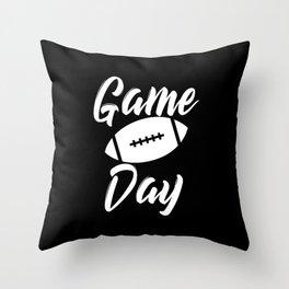 Game Day Football Throw Pillow