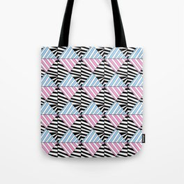 Symetric triangle 6 -vichy, gingham,strip,triangle,geometric, sober,tartan,mandala Tote Bag