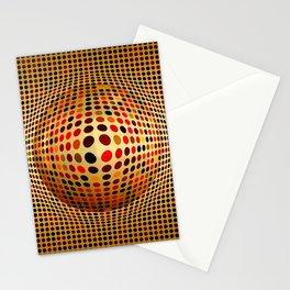 Ball illusion art Stationery Cards