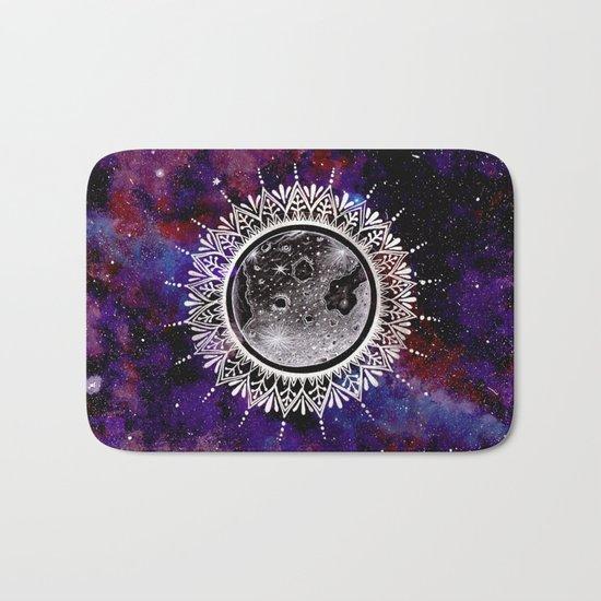 Galaxy Moon Mandala Bath Mat