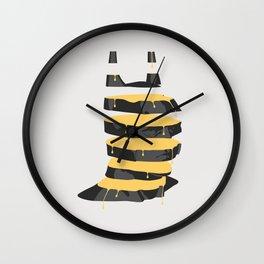 Bat Slices Wall Clock