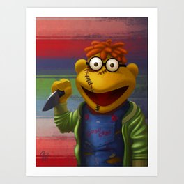 Muppet Maniac - Scooter as Chucky Art Print