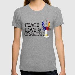 Peace, Love & Crawfish T-shirt