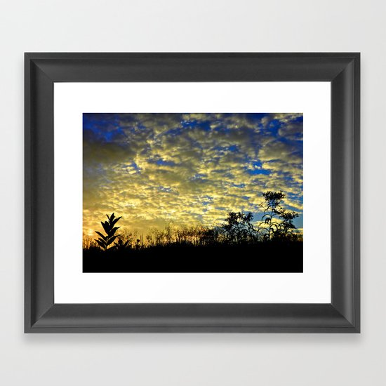 Shadows of Fall Framed Art Print