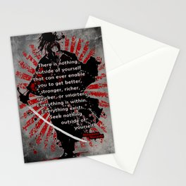 """Samurai, Miyamoto Musashi, """"there is nothing outside of yourself... Stationery Cards"""