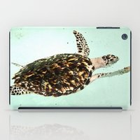 turtle iPad Cases featuring Turtle by Sara Jilnö