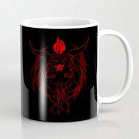 baphomet Mugs featuring Baphomet V1 by Savannah Horrocks