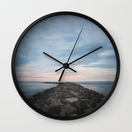 The Jetty at Sunset - Landscape Wall Clock