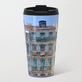 Typical building, Lisbon, Portugal Travel Mug