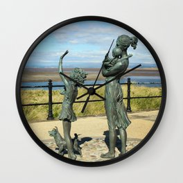 Welcome Home Statue by Anita Lafford on the promenade at Fleetwood - England Wall Clock