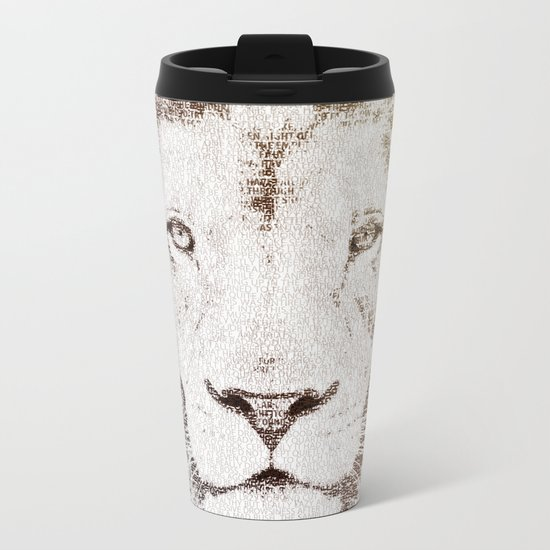 The Intellectual Lion Metal Travel Mug