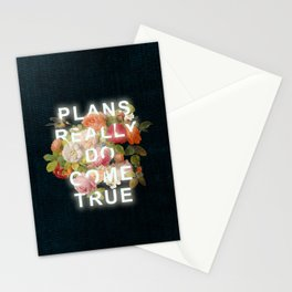 Plans Really Do Come True Stationery Cards