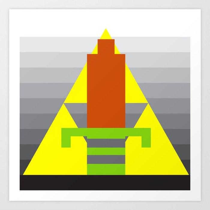 8-Bit Hero Art Print