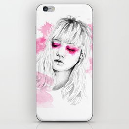 Pink watercolor iPhone Skin