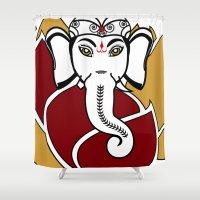 ganesh Shower Curtains featuring Ganesh I by Gabriela Aeissame