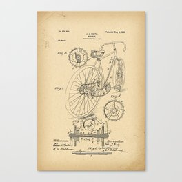 1899 Patent Bicycle Velocipede Canvas Print