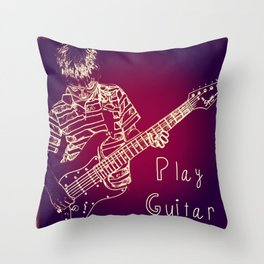 Play Guitar Throw Pillow