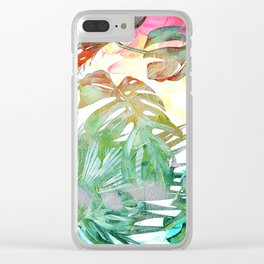 tropical and abstract tropical painting pattern Clear iPhone Case