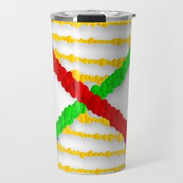 Twin DNA Strands Travel Mug