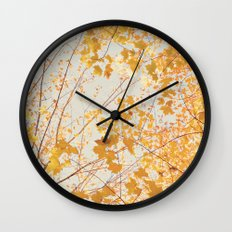 Autumn Orange Wall Clock