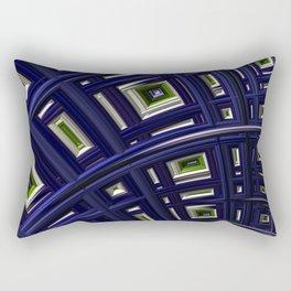 In The Frame Blue Rectangular Pillow