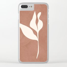 Little Leaves III Clear iPhone Case