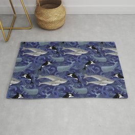 Beautiful Ocean Giants - purple Rug