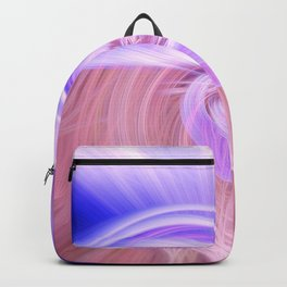 Awesome Light Fibers Show Of Twirls Backpack
