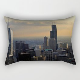 The Skyline at Dusk: From the Hancock (Chicago Architecture Collection) Rectangular Pillow