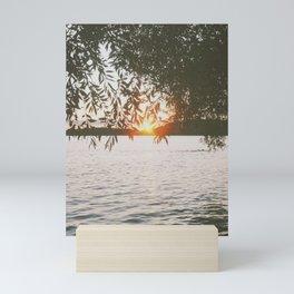 Evening at the Lake Mini Art Print