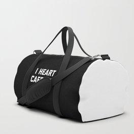 I Heart Caffeine Funny Quote Duffle Bag