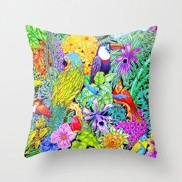 Nature's Sleeping Serenity Throw Pillow