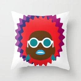 self portrait (our first) Throw Pillow
