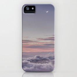 Sunset and Moon Rise Above the Clouds // Mount Haleakala, Maui iPhone Case