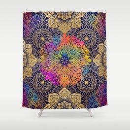 Bohemian 1960's Mandala Pattern of Joy Shower Curtain