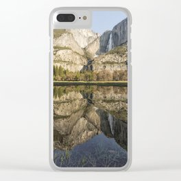 View of Yosemite Falls from Cook's Meadow Clear iPhone Case
