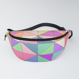 Vector colored mosaic pattern. Abstract geometric Fanny Pack
