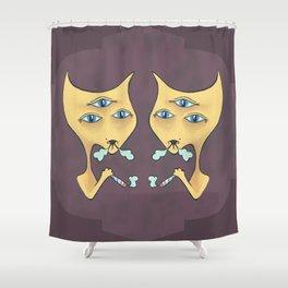 3rdHighCat Shower Curtain