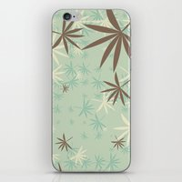 1d iPhone & iPod Skins featuring Leaves 1D by Patterns of Life