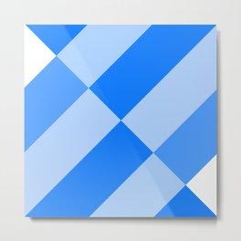 Angled Blue Metal Print
