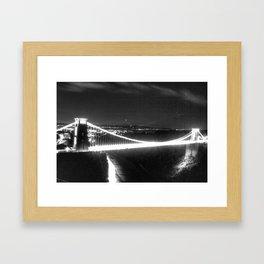 Clifton Suspension Bridge at night Framed Art Print