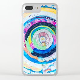 Spilling Wide Mandala Clear iPhone Case