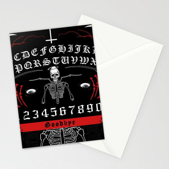 OUIJA Board Skull Stationery Cards
