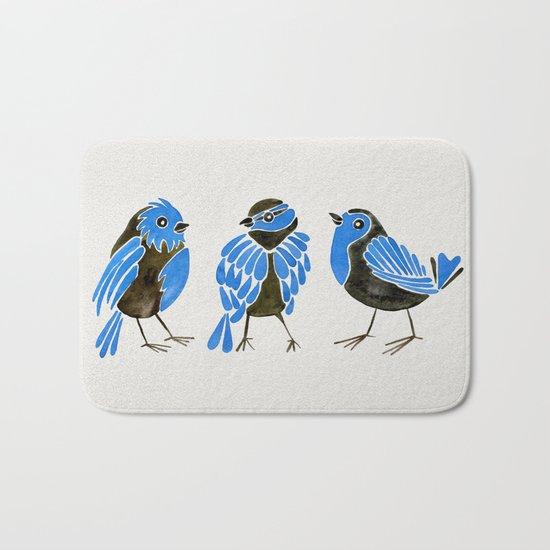 Blue Finches Bath Mat