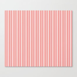 Coral Ticking Canvas Print