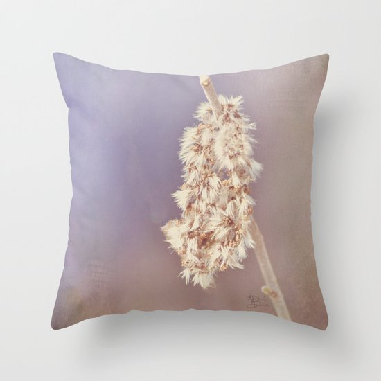 Draped in Fur Throw Pillow